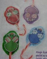 Candy Cane Mice ~ Four Cross Stitch Charts