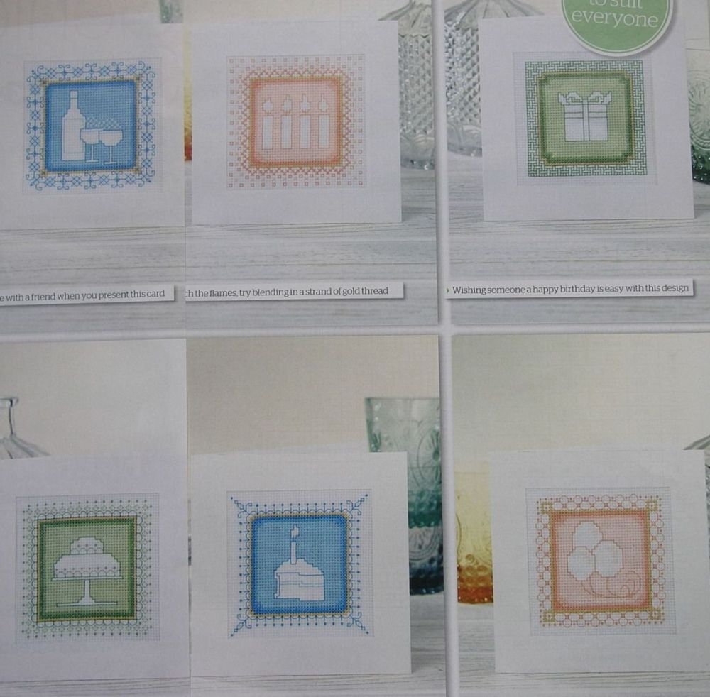 Six Assisi Cards for All occasions ~ Cross Stitch Charts