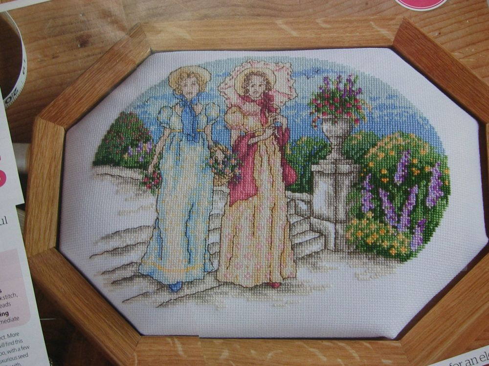 Georgian Belles in a Formal Garden ~ Cross Stitch Charts
