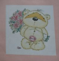 Fizzy Moon with Bouquet of Flowers ~ Cross Stitch Chart