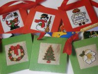 Twelve Christmas Gift Tags ~ Cross Stitch Charts
