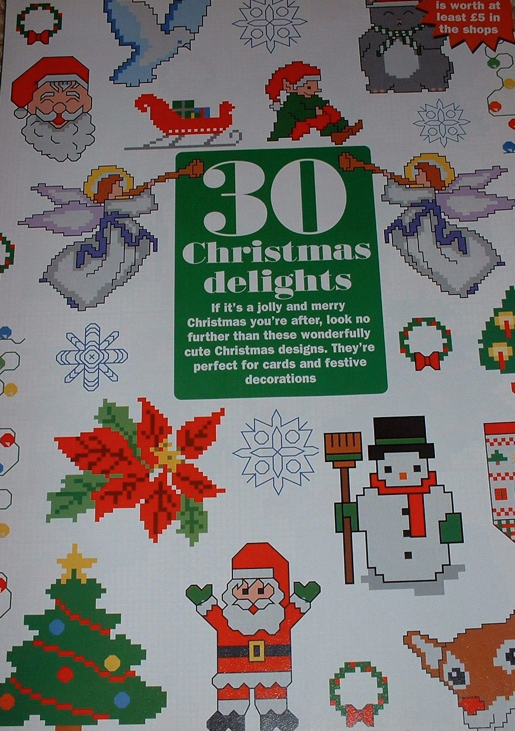 30 Christmas Card Motifs ~ Cross Stitch Charts