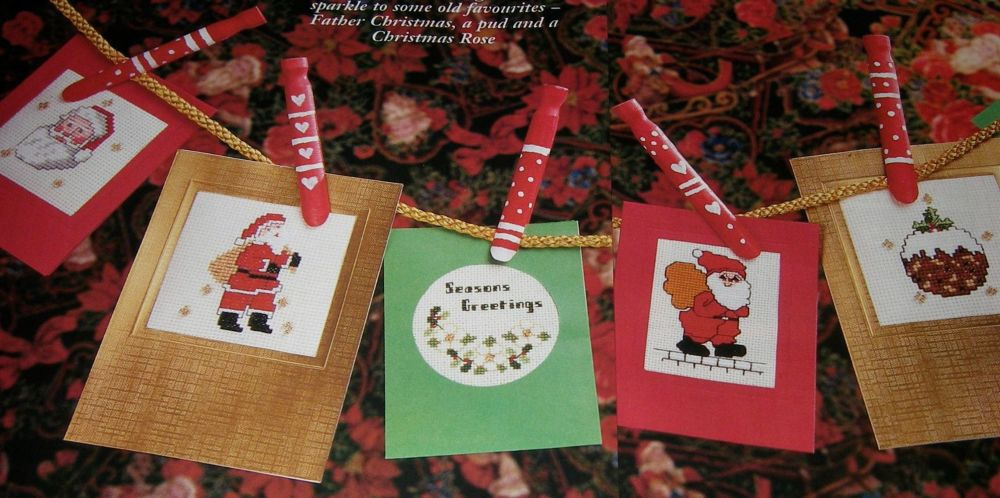 Six Christmas Cards ~ Cross Stitch Charts