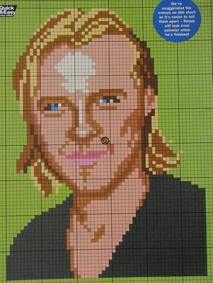 Ronan Keating ~ Pop Singer ~ Cross Stitch Chart
