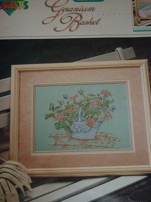 Sallie Cobb ~ Geranium Basket ~ Cross Sttich Chart Booklet