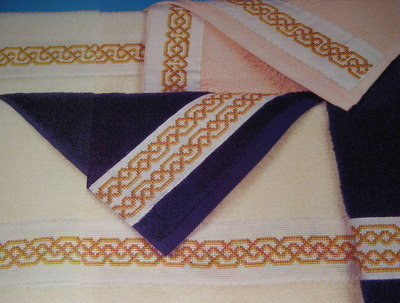 SIX Entwined Bandings & Borders ~ Cross Stitch Charts