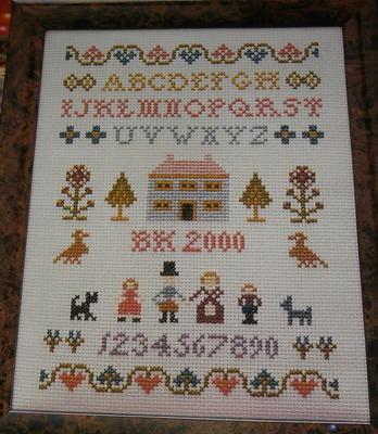 Alphabet & Family Sampler ~ Cross Stitch Chart