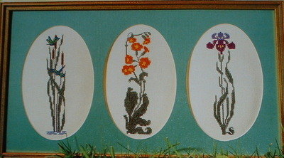Three Floral Riverbank Studies ~ Cross Stitch Charts