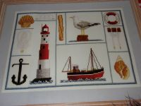 Seaside Motifs Sampler ~ Cross Stitch Chart