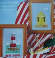 Beach Hut and Lighthouse ~ Two Cross Stitch Charts