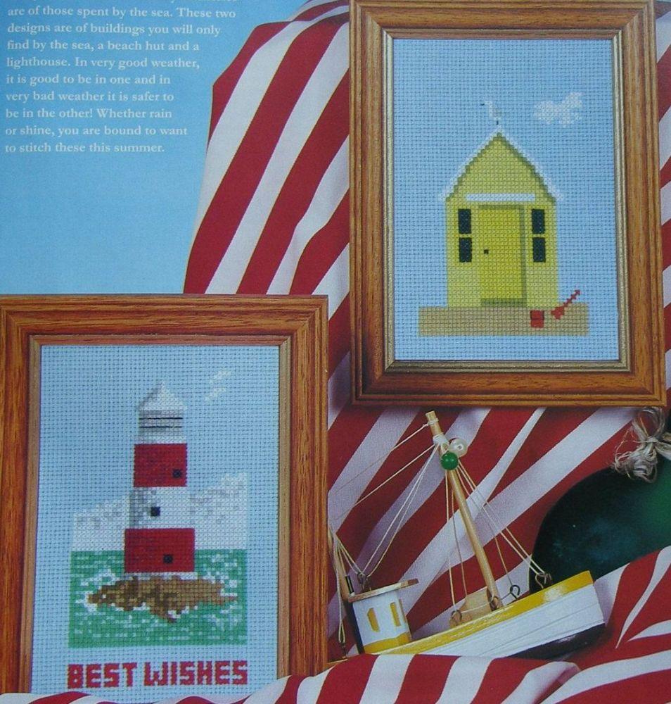 Beach Hut and Lighthouse ~ Two Cross Stitch Charts