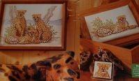 Family of Three Cheetahs on Safari ~ Cross Stitch Chart