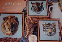 Three Wild Cats ~ Cross Stitch Charts