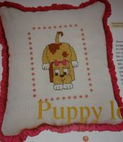 Playful Puppy Cushion ~ Cross Stitch Chart