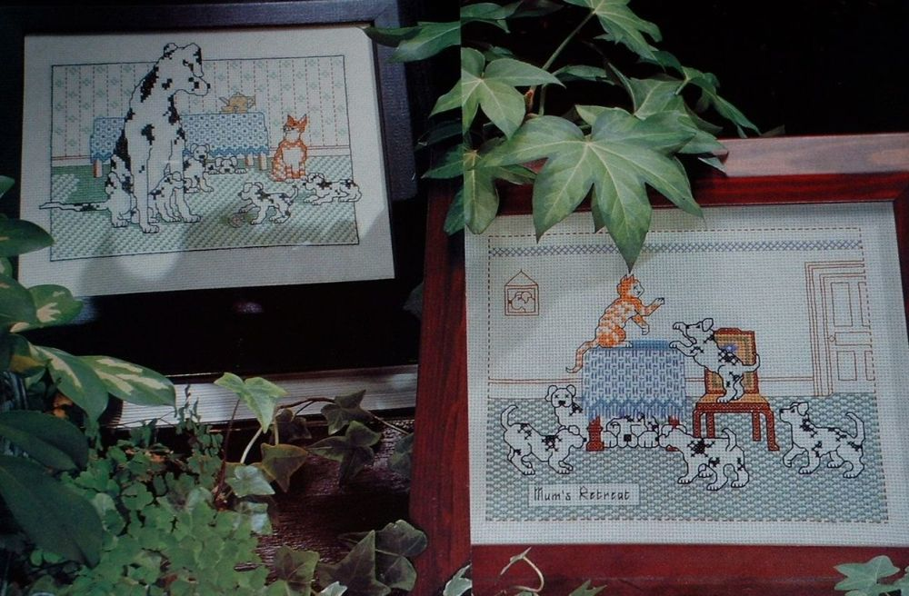 Family of Dalmations and a Cat ~ Two Cross Stitch charts