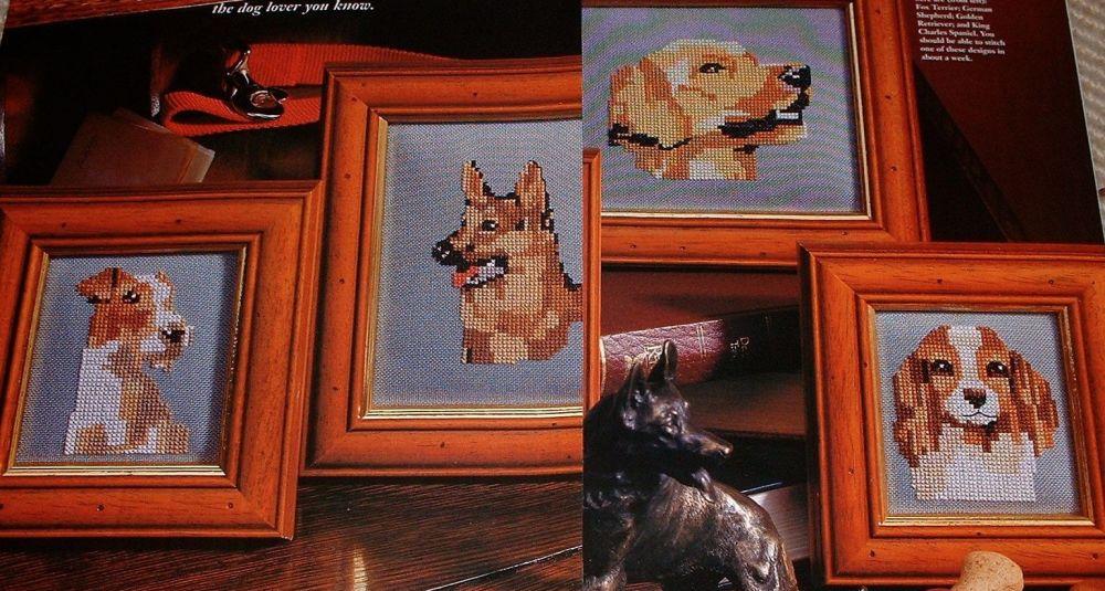Four Dog Portraits ~ Cross Stitch Charts