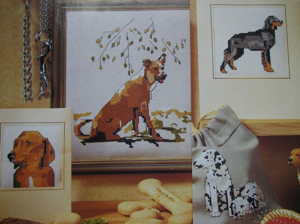 Five Dog Portraits ~ Cross Stitch Charts