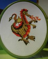 Fire Breathing Dragon ~ Cross Stitch Chart