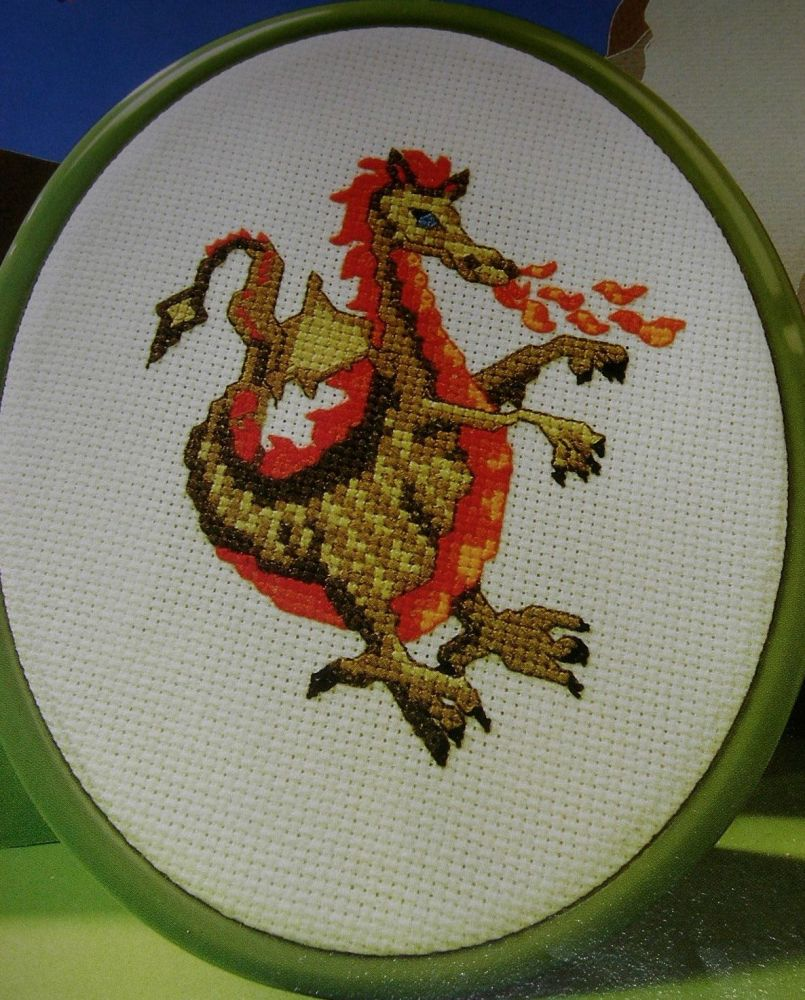 Fire Breathing Dragon ~ Cross Stitch Chart