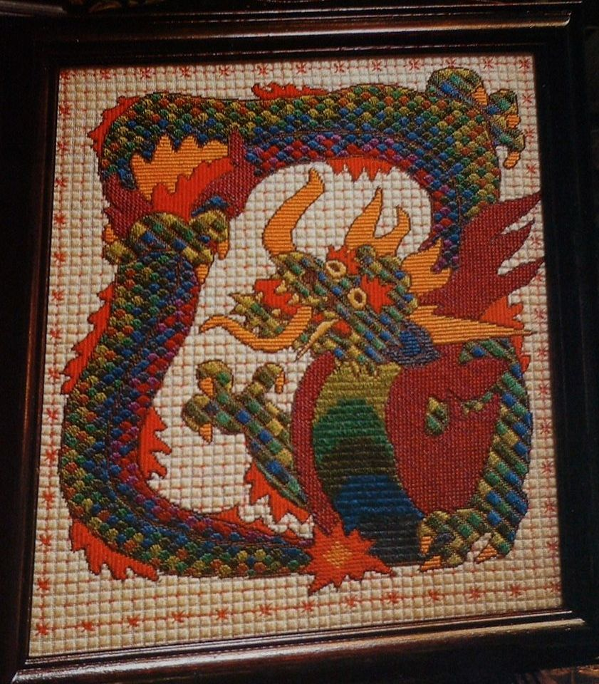 Oriental Dragon Firescreen/Wall Hanging ~ Needlepoint Pattern