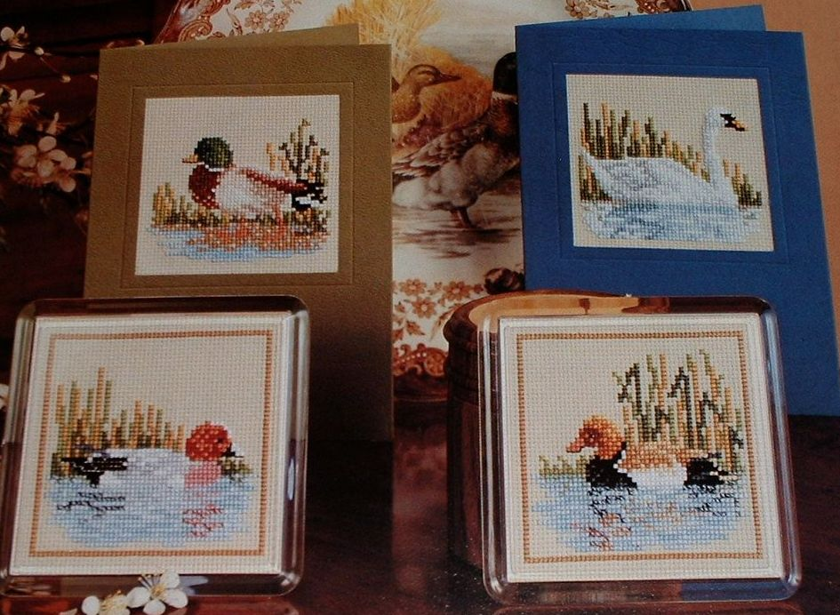 Four Water Birds ~ Cross Stitch Charts
