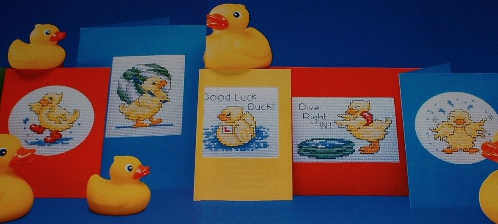 Six Fun Duck Cards ~ Cross Stitch Charts