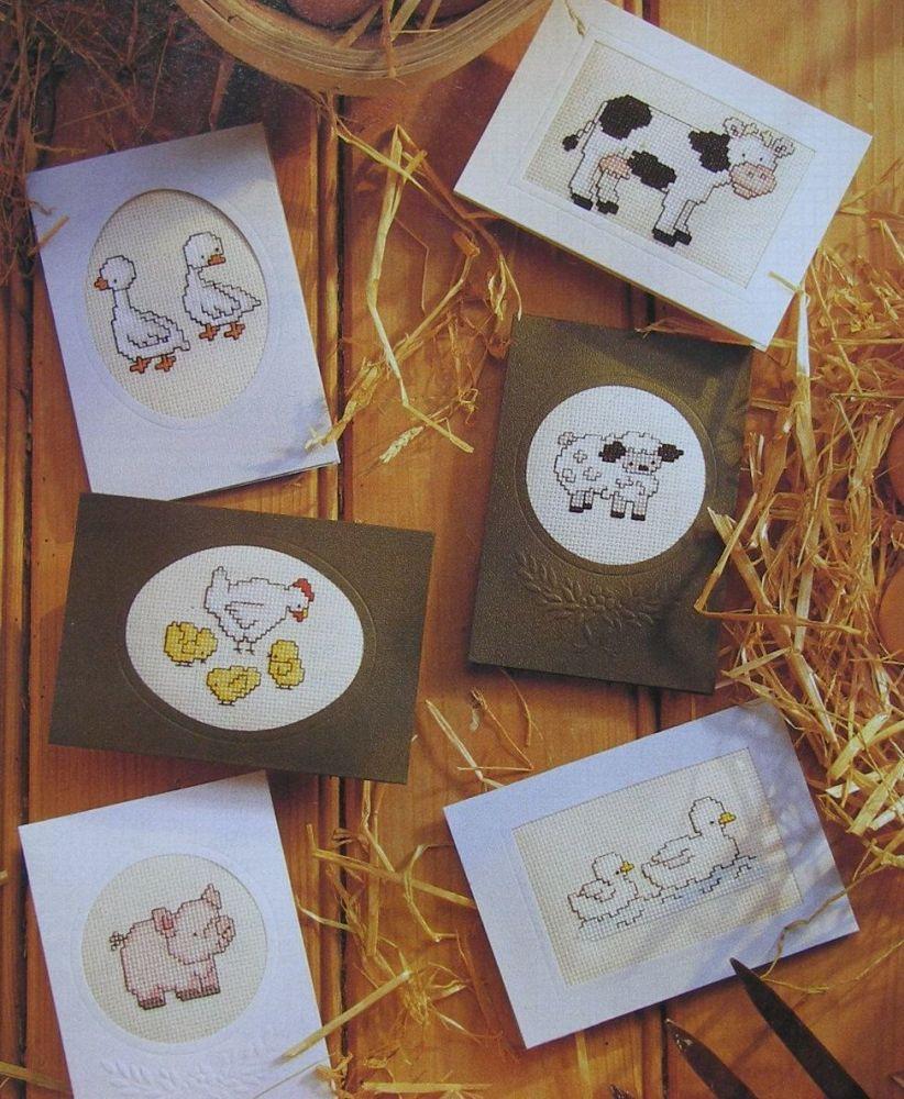 Six Baby Animal Cards ~ Cross Stitch Charts