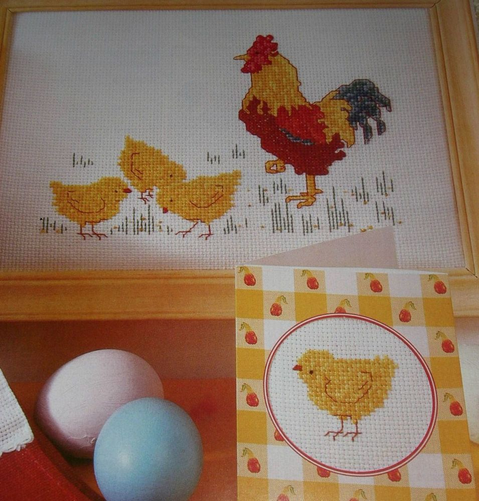Rooster & Chicks ~ Cross Stitch Charts