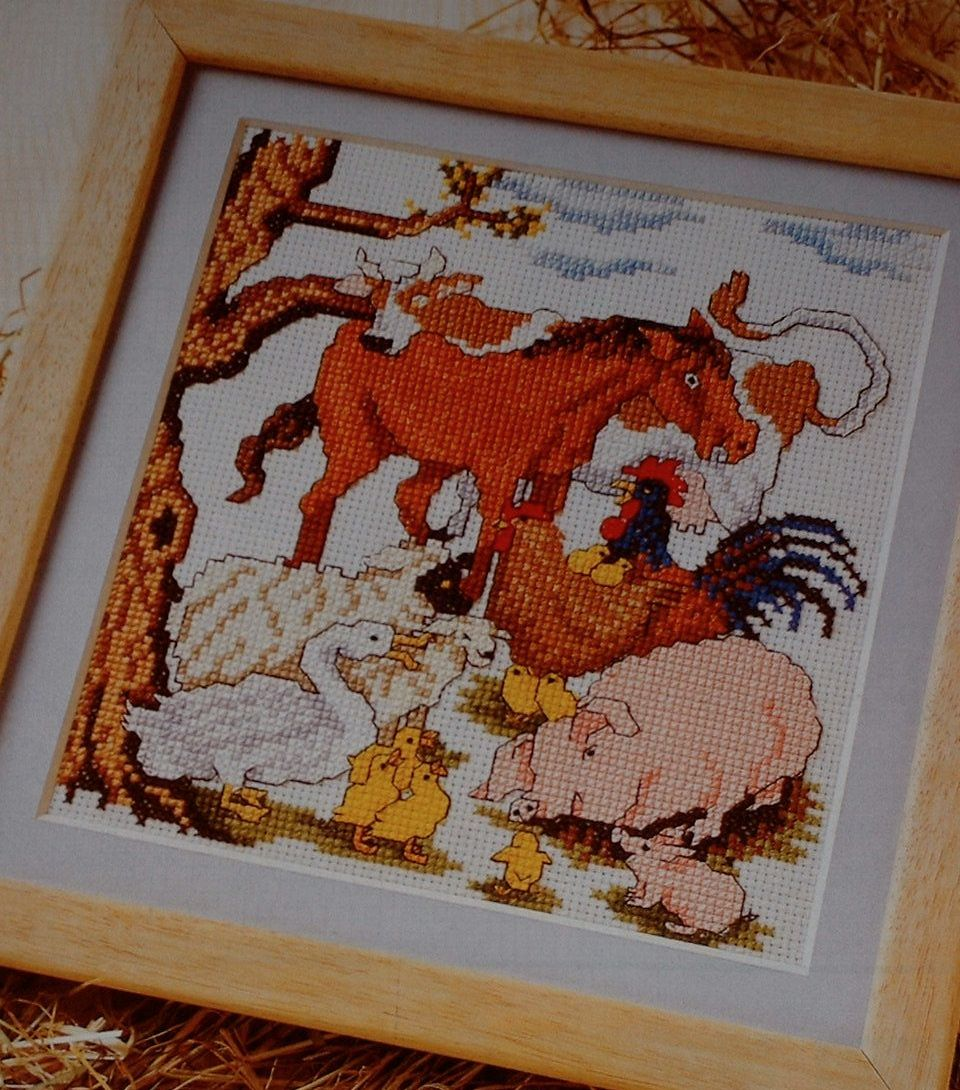 A Huddle of Farmyard Animals ~ Cross Stitch Chart