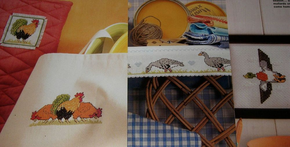 Farmyard Fowl ~ Nine Cross stitch Charts