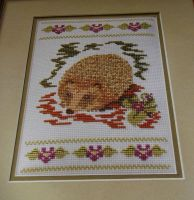 Woodland Hedgehog ~ Cross Stitch Chart