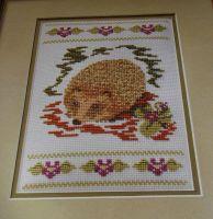 Woodland Hedgehog ~ Cross Stitch Chart