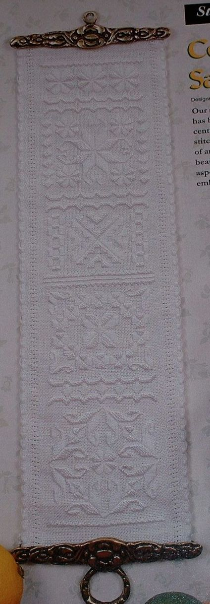 Counted Satin Stitch Sampler Bellpull ~ Embroidery Pattern