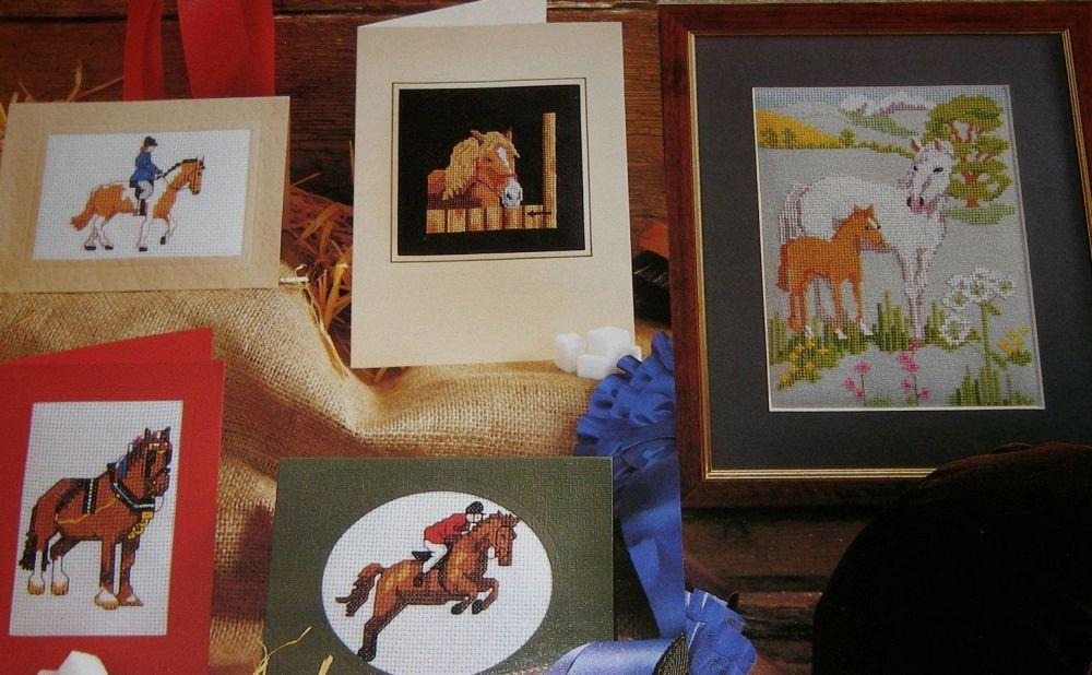 Horses ~ Five Cross Stitch Charts
