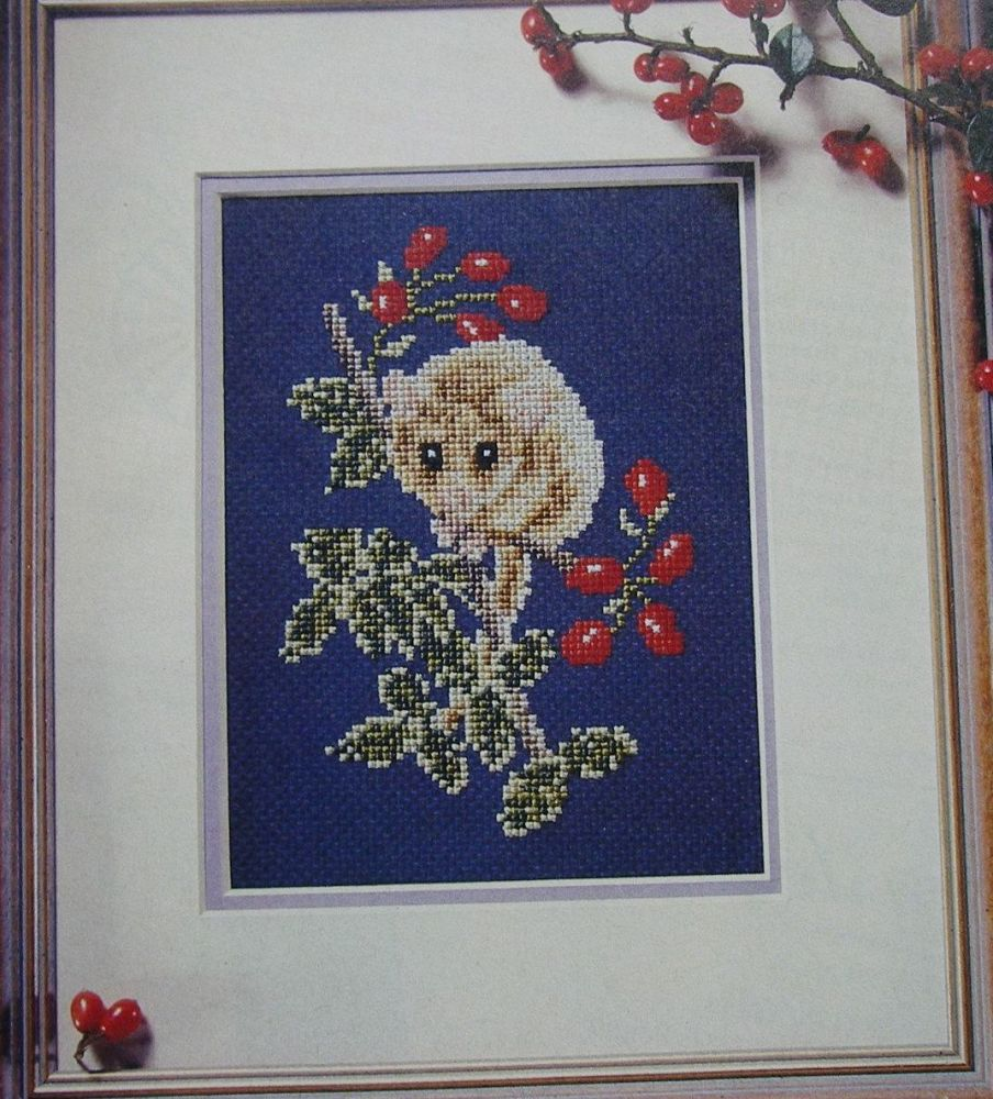 Nocturnal Dormouse ~ Cross Stitch Chart