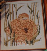 Harvest Mouse in a Corn Field ~ Cross Stitch Chart