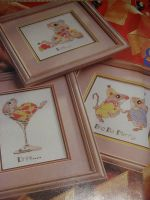 Eat Drink and Be Merry Christmas Mice ~ Three Cross Stitch Charts