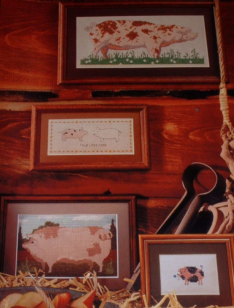 Pigs! ~ Six Cross Stitch Charts
