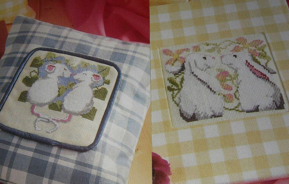 Spring Mice & Bunnies ~ Three Cross Stitch Charts