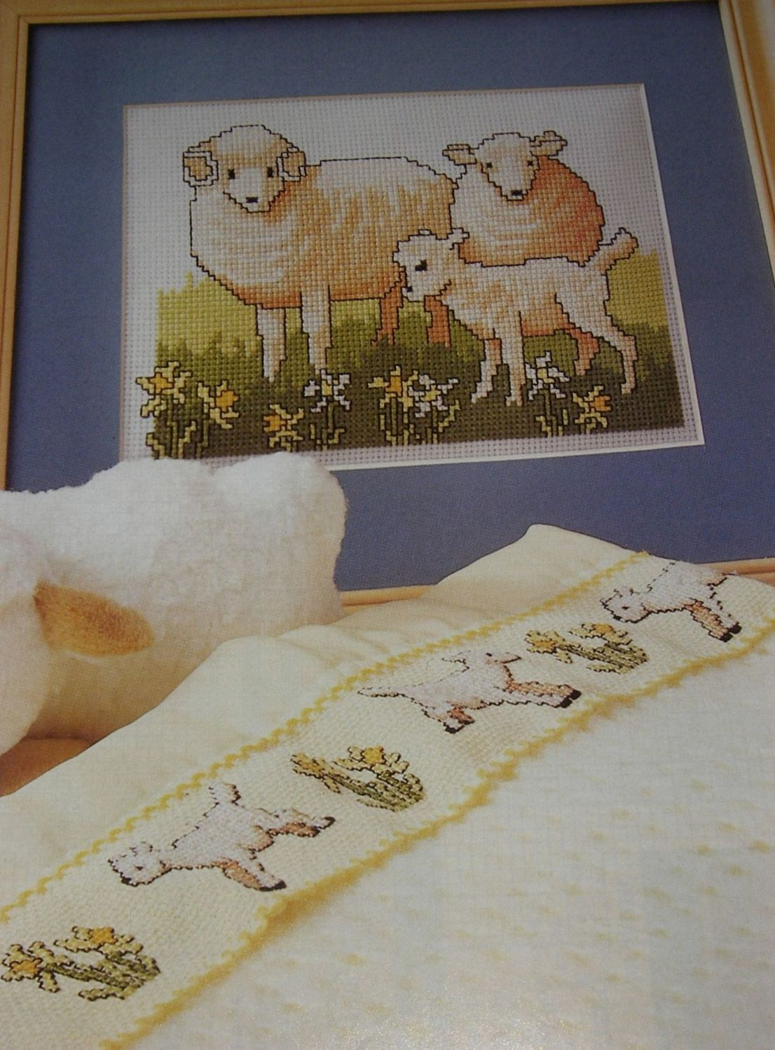 Spring Sheep and Lambs ~ Two Cross Stitch Charts