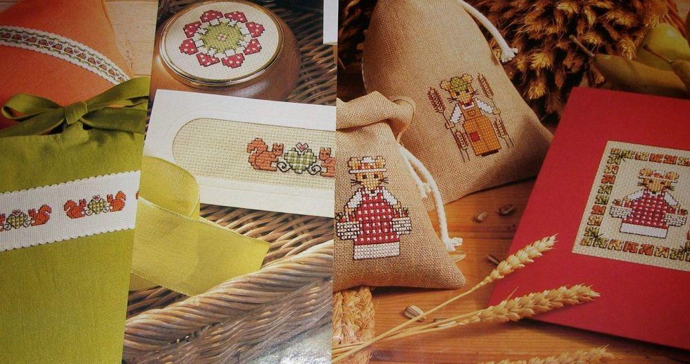 Autumnal Woodland Animals ~ Six Cross Stitch Charts