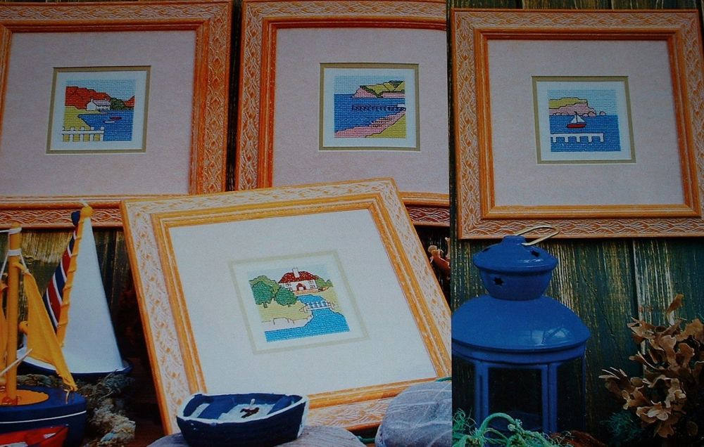 Four Waterfront Scenes ~ Cross Stitch Charts