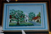 Country Village Scene ~ Cross Stitch Chart