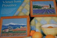Lavender Fields of Provence & Mont Ventoux ~ Two Cross Stitch Charts