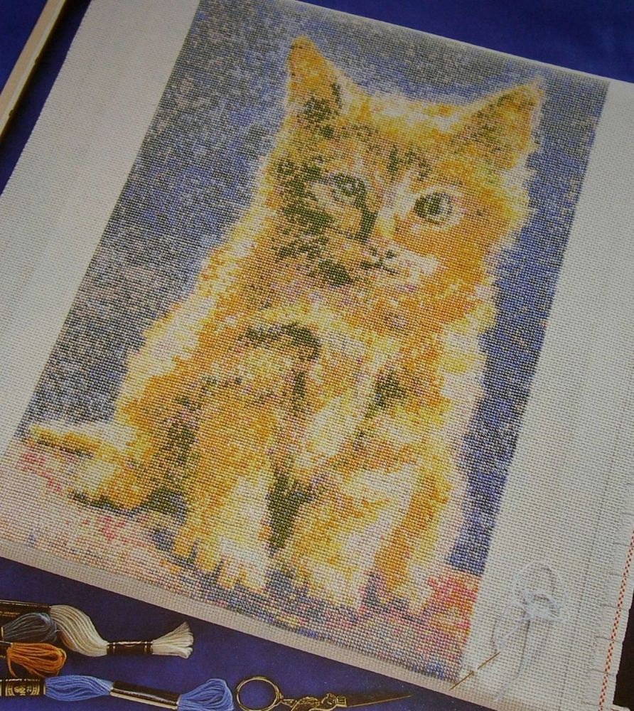 Richard Box: Ginger Kitten ~ Cross Stitch Chart
