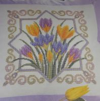 Crocus Cushion ~ Cross Stitch Chart