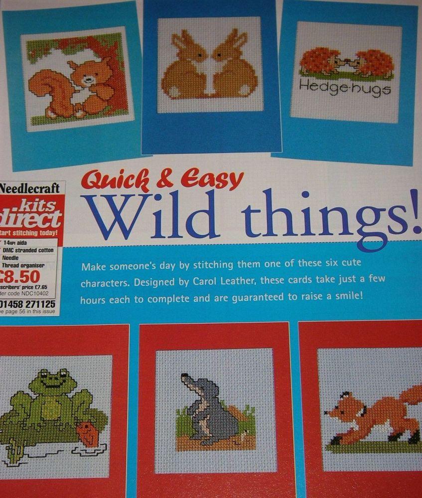 Six Cute Animal Cards ~ Cross Stitch Charts