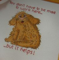 Barking Mad Puppy ~ Cross Stitch Chart