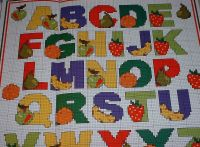 Fruit Alphabet ~ Cross Stitch Chart