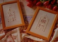 Dutch Merchant Houses of Amsterdam, Holland ~ Hardanger Embroidery Patterns